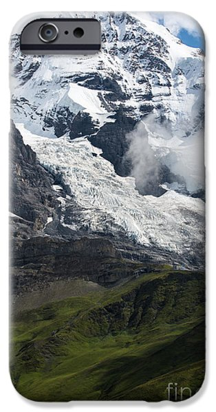 Grindelwald iPhone Cases - The Monk - Swiss Bernese Alps iPhone Case by Gary Whitton