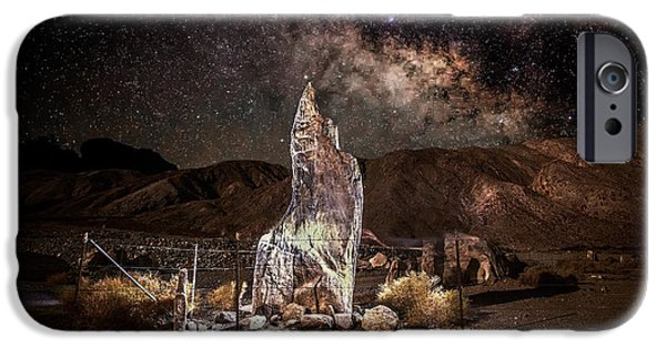Dry Lake Photographs iPhone Cases - The Monolith - Protect at all Cost iPhone Case by Peter Tellone