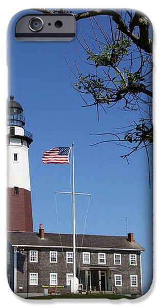 The Montauk Point Lighthouse iPhone Case by Christiane Schulze Art And Photography