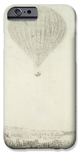Hot Air Balloon iPhone Cases - The Montgolfier Brothers iPhone Case by Goya