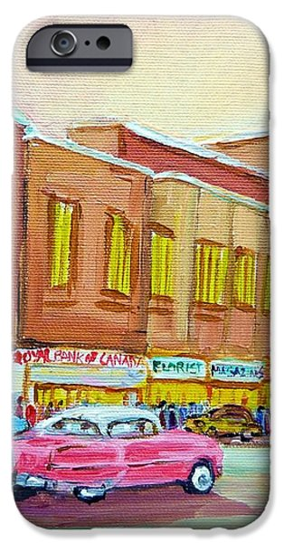 The Montreal Forum iPhone Case by CAROLE SPANDAU