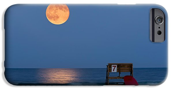 Super Moon iPhone Cases - The Moon Is Yours iPhone Case by Susan Candelario
