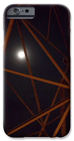 Guy Ricketts Photography iPhone Cases - The Moon Peeks Out Its Head iPhone Case by Guy Ricketts