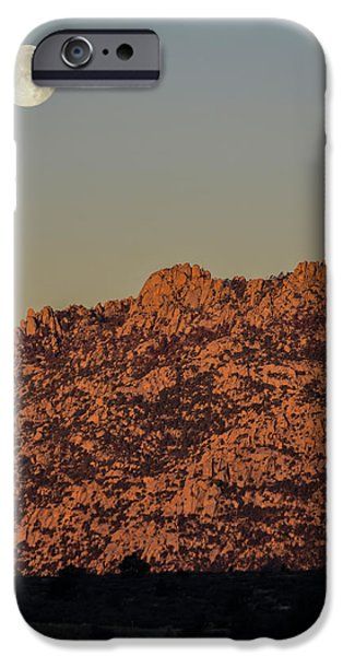 Prescott iPhone Cases - The Moon retreating from the Suns Advance iPhone Case by Alan Marlowe