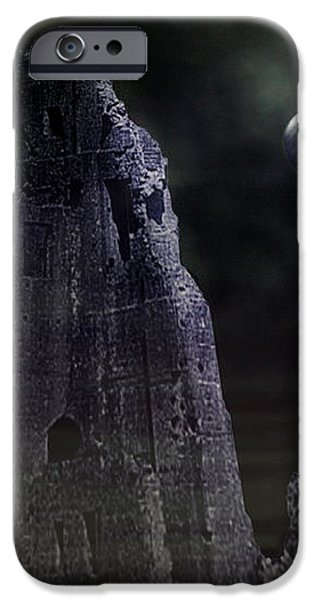 The Moonshine on the Castle iPhone Case by Terri  Waters