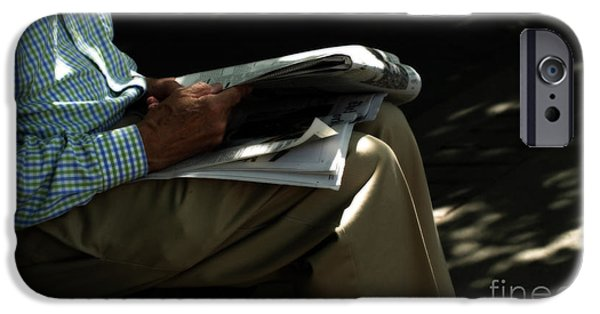 Old Man Digital iPhone Cases - The Morning Paper  iPhone Case by Steven  Digman