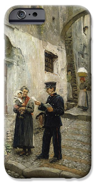 Working Artist iPhone Cases - The Morning Post, 1913 Oil On Canvas iPhone Case by Paul Fischer