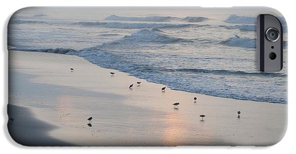 Seagull iPhone Cases - The Morning Surf iPhone Case by Bill Cannon