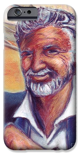 Sailing Pastels iPhone Cases - The Most Interesting Man in the World iPhone Case by Samantha Geernaert