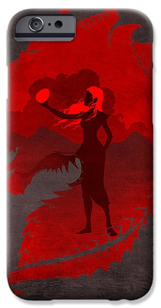 Games iPhone Cases - The Mother of Dragons iPhone Case by Christopher Ables