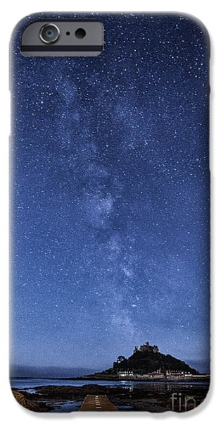 Michael iPhone Cases - The mount and the milkyway iPhone Case by John Farnan