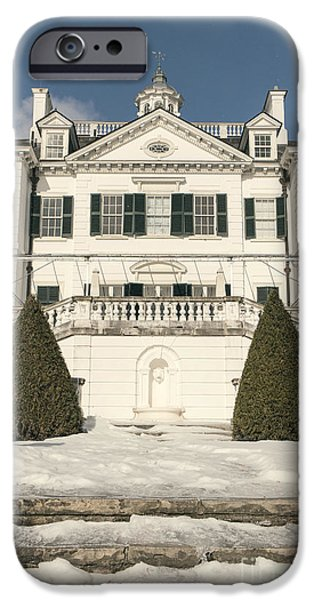 White House iPhone Cases - The Mount Edith Warton Estate Lenox Ma iPhone Case by Edward Fielding