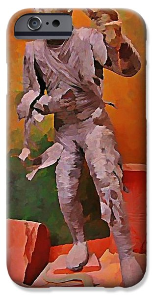 Halifax Art Work iPhone Cases - The Mummy iPhone Case by John Malone