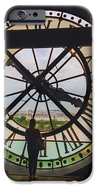 Paris iPhone Cases - The Museum dOrsay Clock iPhone Case by Tim Stanley