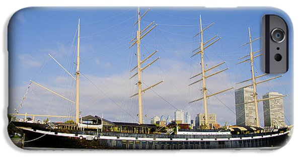 Tall Ship iPhone Cases - The Mushulu on a Summer Morning iPhone Case by Bill Cannon