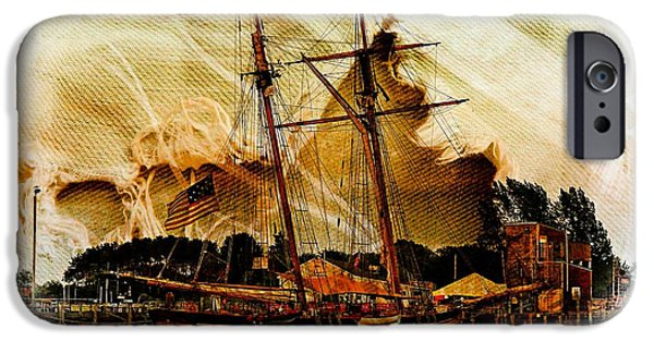 Tall Ship iPhone Cases - The Mystic iPhone Case by Marcia Lee Jones