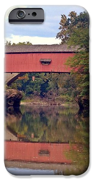 The Narrows Covered Bridge 4 iPhone Case by Marty Koch