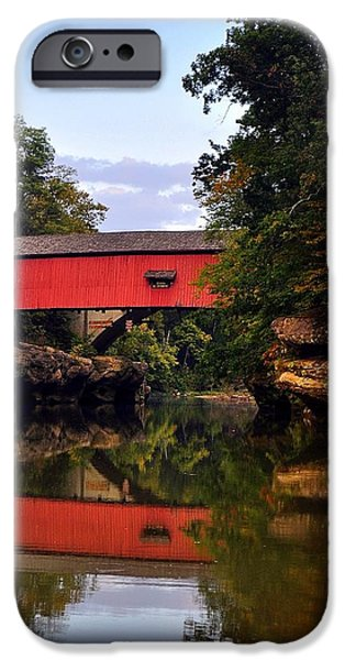 The Narrows Covered Bridge 5 iPhone Case by Marty Koch