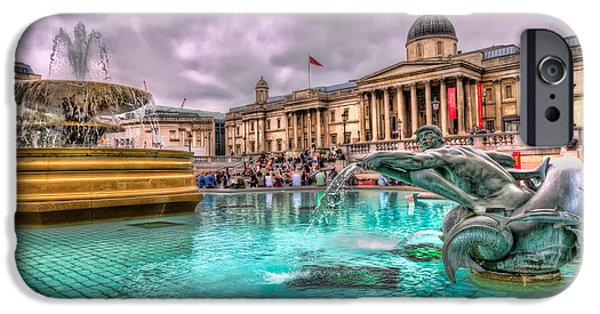England iPhone Cases - The National Gallery in Trafalgar Square iPhone Case by Tim Stanley