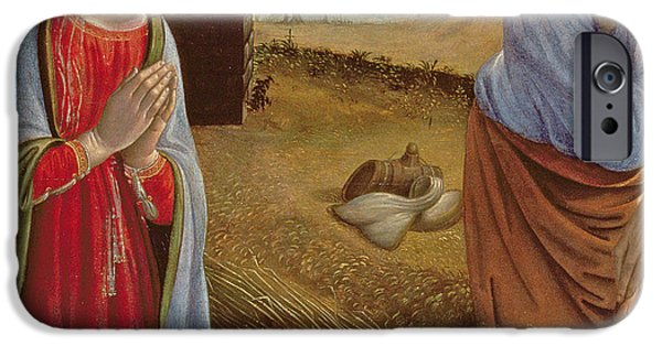 Renaissance Paintings iPhone Cases - The Nativity iPhone Case by Cosimo Rosselli