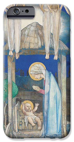 Baby Jesus iPhone Cases - The Nativity iPhone Case by Edward Reginald Frampton