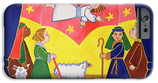 Stage iPhone Cases - The Nativity Play iPhone Case by Cathy Baxter
