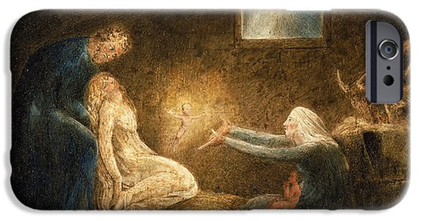 William Blake iPhone Cases - The Nativity iPhone Case by William Blake