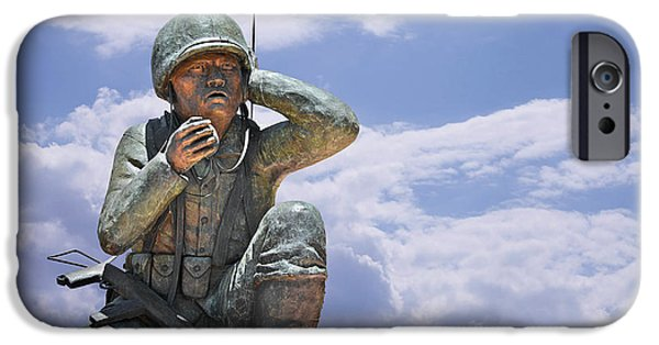 Arizona iPhone Cases - The Navajo Code Talkers iPhone Case by Christine Till