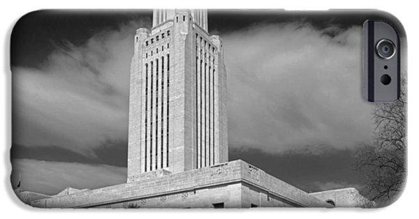 Nebraska iPhone Cases - The Nebraska Capitol Building iPhone Case by Mountain Dreams