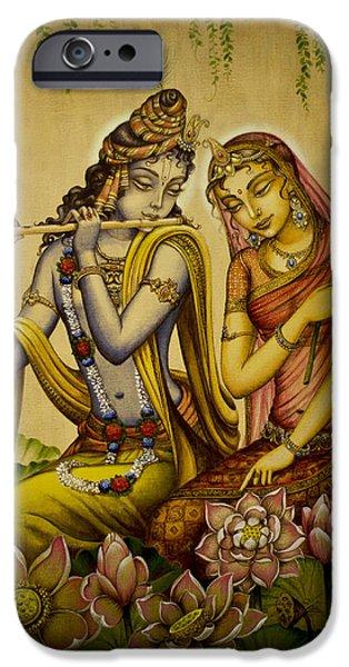 Flute iPhone Cases - The nectar of Krishnas flute iPhone Case by Vrindavan Das
