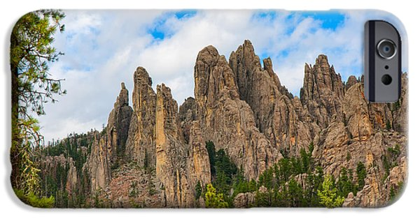 Cathedral Rock iPhone Cases - The Needles at Custer State Park iPhone Case by John Bailey