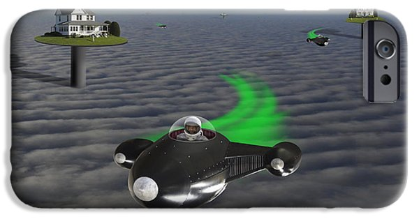 Space-craft iPhone Cases - The Neighborhood  iPhone Case by Mike McGlothlen