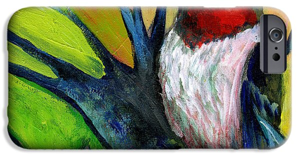 Woodpecker iPhone Cases - The NeverEnding Story No 124 iPhone Case by Jennifer Lommers