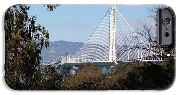Baybridge iPhone Cases - The New And The Old Bay Bridge San Francisco Oakland California 5D25398 iPhone Case by Wingsdomain Art and Photography