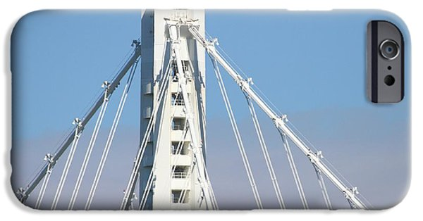 Baybridge iPhone Cases - The New San Francisco Oakland Bay Bridge 7D25481 iPhone Case by Wingsdomain Art and Photography