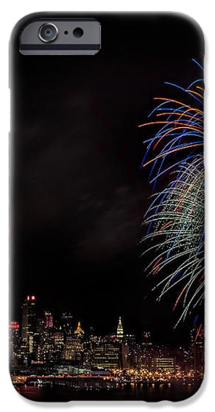 The New York City Skyline Sparkles iPhone Case by Susan Candelario