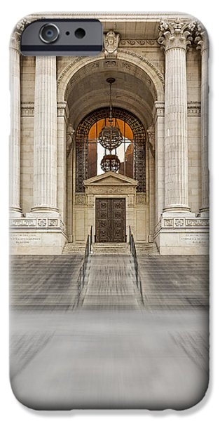 Empire State iPhone Cases - The New York Public Library iPhone Case by Susan Candelario