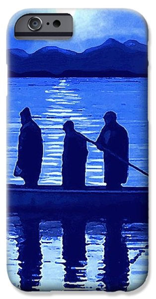 The Night Fishermen iPhone Case by SophiaArt Gallery