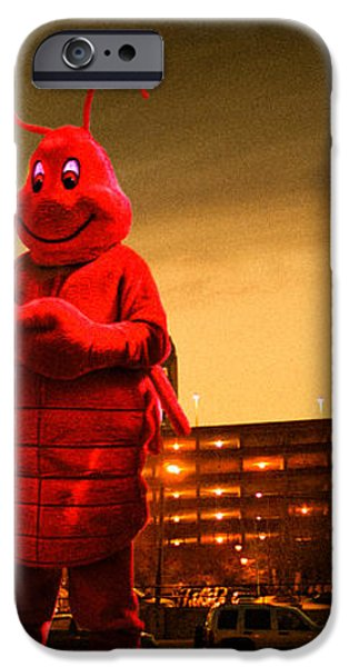The Night Of The Lobster Man iPhone Case by Bob Orsillo