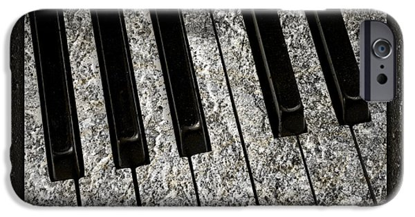 Piano iPhone Cases - The Night The Music Died iPhone Case by John Stephens