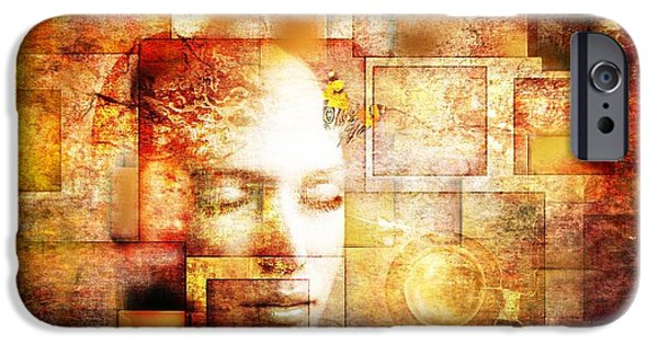 Conceptual Mixed Media iPhone Cases - The Noise Within iPhone Case by Photodream Art