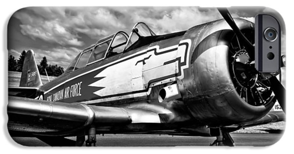 Monotone iPhone Cases - The North American T-6 Texan iPhone Case by David Patterson
