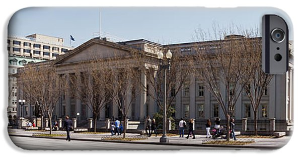 Treasury iPhone Cases - The North Face Of The U.s. Treasury iPhone Case by Panoramic Images