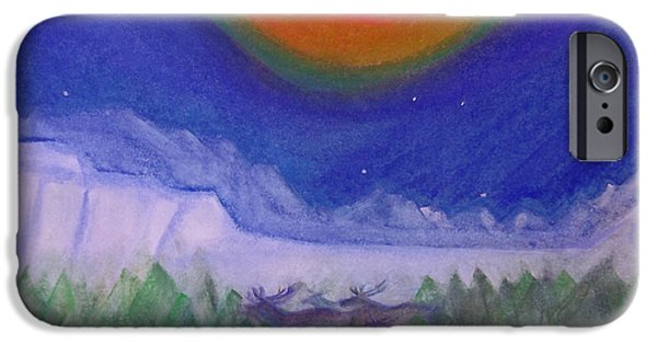 Jrr Pastels iPhone Cases - The North Story Elk by jrr iPhone Case by First Star Art