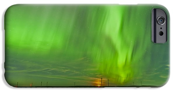 Strange iPhone Cases - The Northern Lights As Seen iPhone Case by Alan Dyer