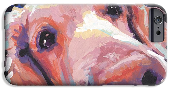 Golden Puppy iPhone Cases - The Nose Knows iPhone Case by Lea