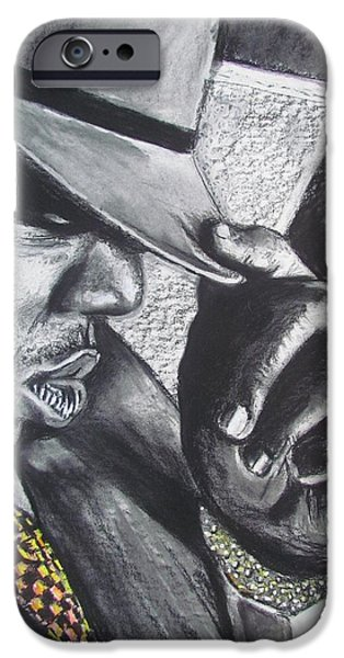Small Pastels iPhone Cases - The Notorious B.I.G.  iPhone Case by Eric Dee