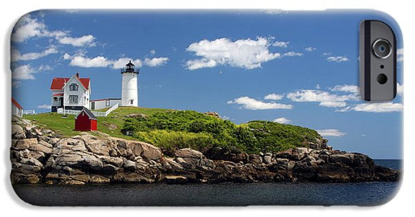 Nubble Lighthouse iPhone Cases - The Nubble iPhone Case by John Bell