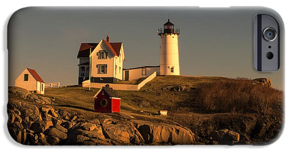 Nubble Lighthouse iPhone Cases - The Nubble Lighthouse iPhone Case by Jim Carey