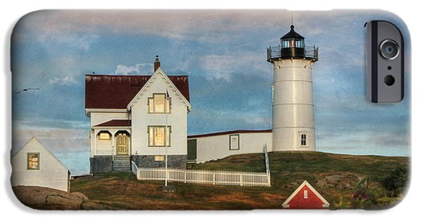 Nubble Lighthouse iPhone Cases - The Nubble Lighthouse iPhone Case by Lori Deiter